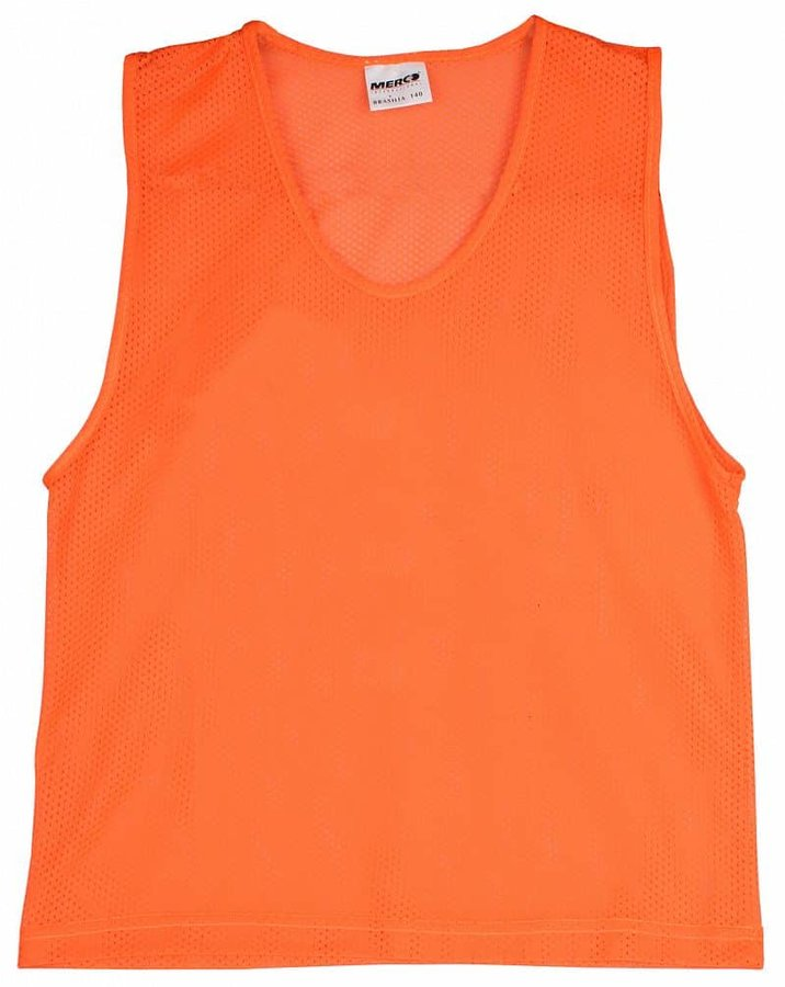 Oranžový rozlišovací dres Merco - velikost 128