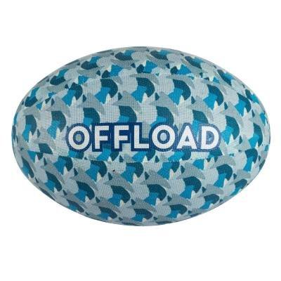 Modrý míč na ragby R100, Offload - velikost 3