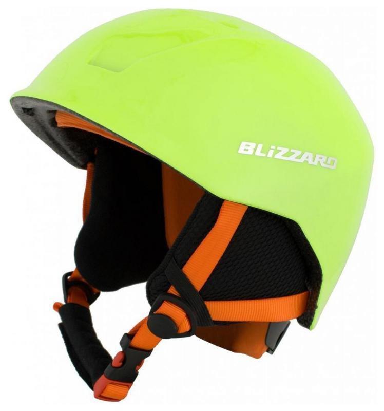 Zelená dětská lyžařská helma Blizzard - velikost 51-54 cm