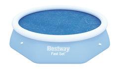 Modrá solární plachta na bazén Bestway - průměr 244 cm