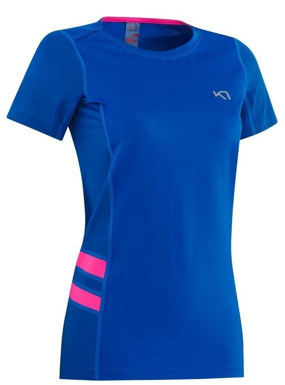 Modré dámské funkční tričko s krátkým rukávem Kari Traa - velikost S