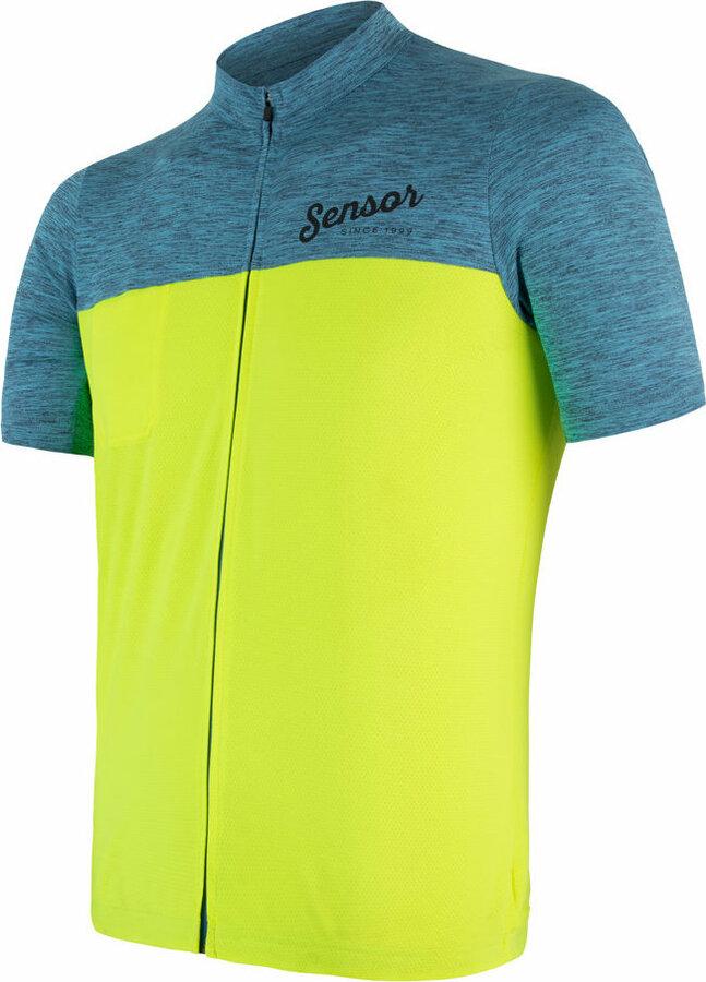 Modro-žlutý pánský cyklistický dres Sensor