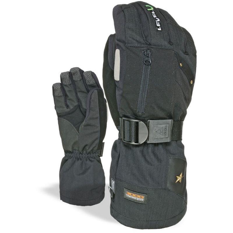 Černé zimní rukavice Level
