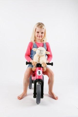 Růžové dětské odrážedlo Teddies