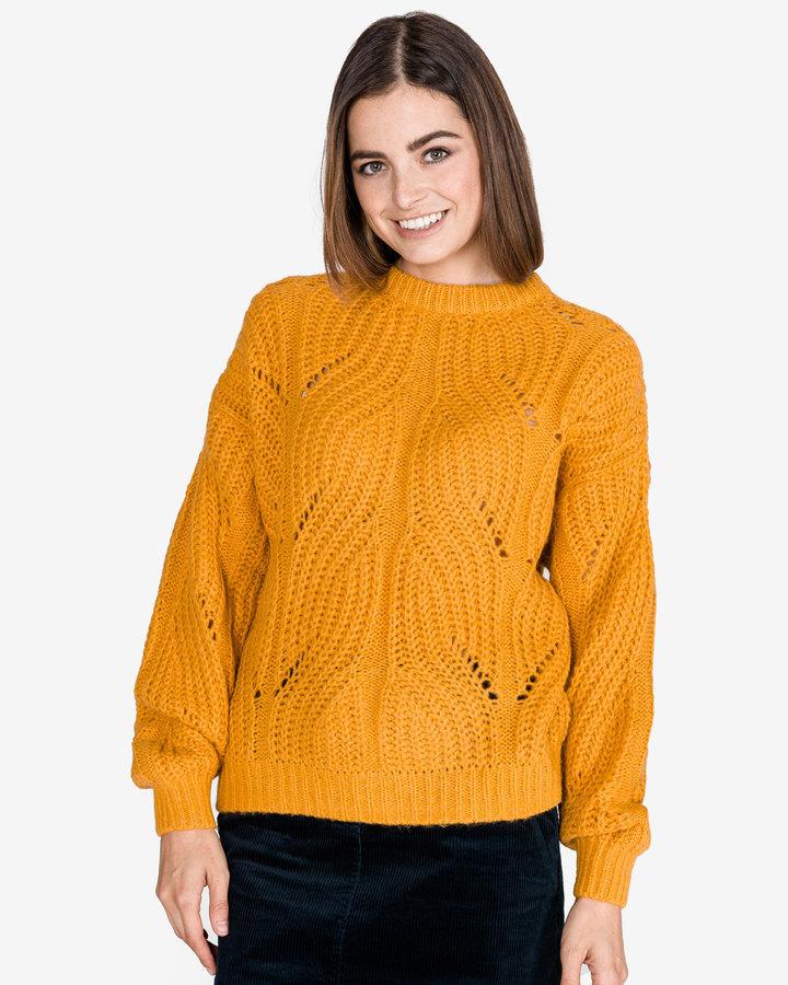 Žlutý dámský svetr Tom Tailor - velikost XS