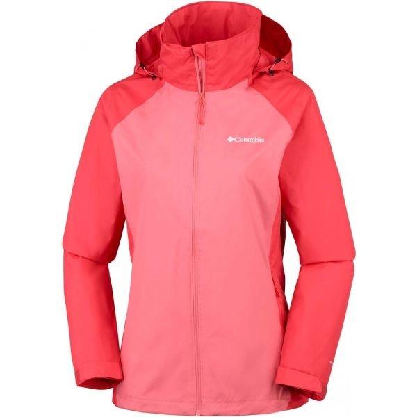 Červeno-růžová dámská bunda Columbia
