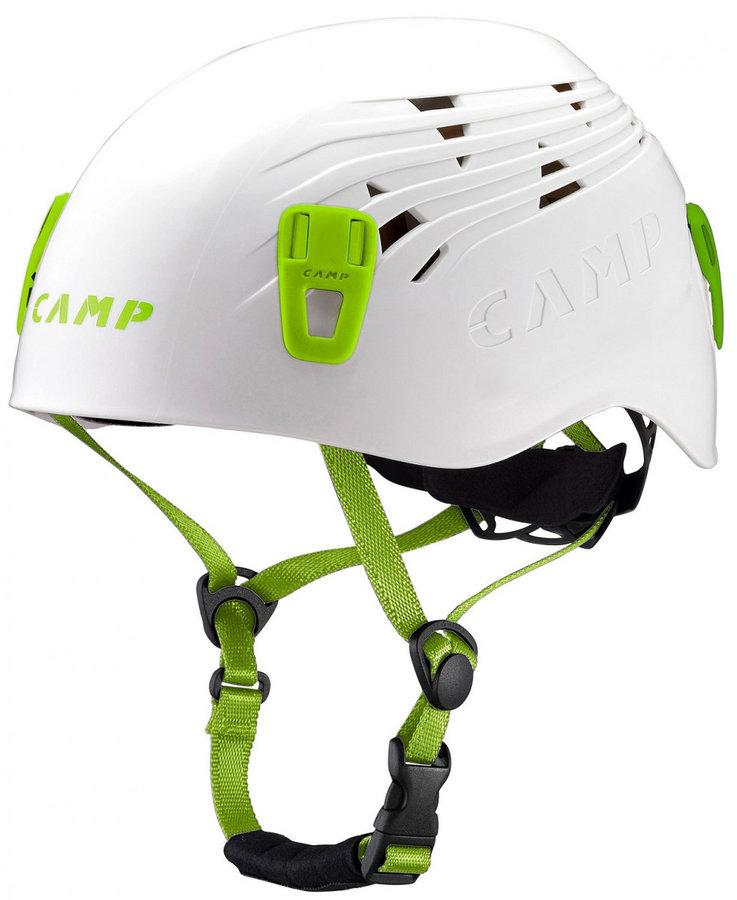 Horolezecká helma - Lezecká přilba Camp Titan Velikost helmy: 48-56 / Barva: bílá/zelená