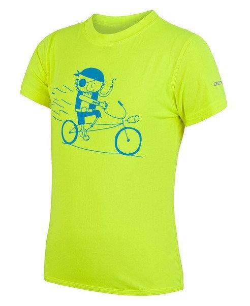 Žluté dětské funkční tričko s krátkým rukávem Sensor - velikost 110