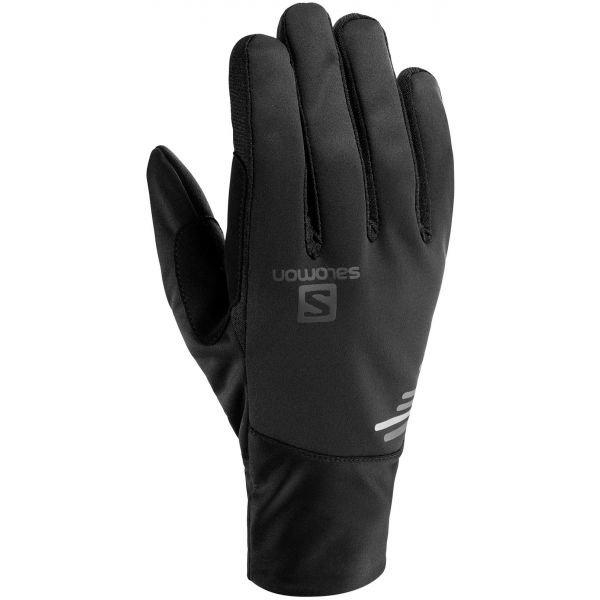 Černé rukavice na běžky Salomon