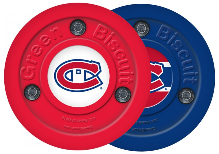 Modrý hokejový puk off - ice Montreal Canadiens, Green Biscuit