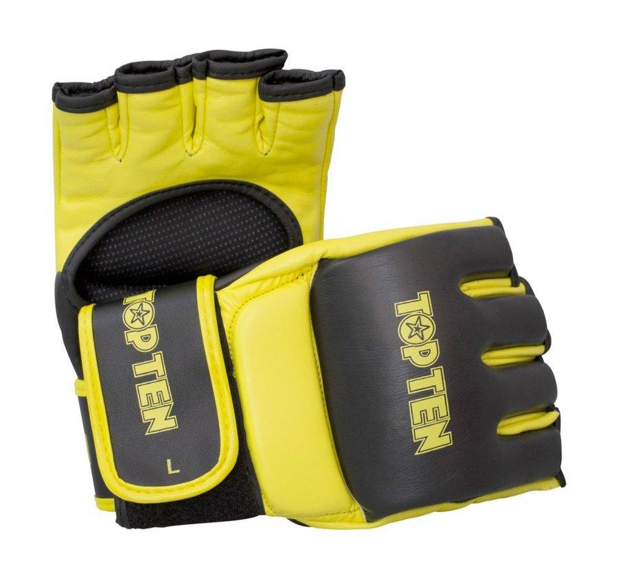 Žluté MMA rukavice Top Ten