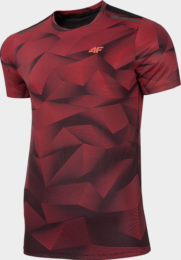 Červené pánské funkční tričko s krátkým rukávem 4F - velikost S