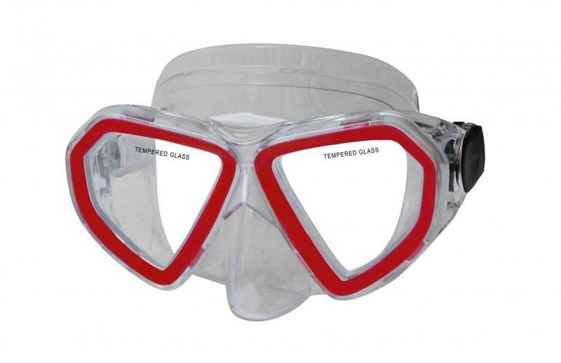 Potápěčská maska - Potápěčská maska CALTER KIDS 285P, červená