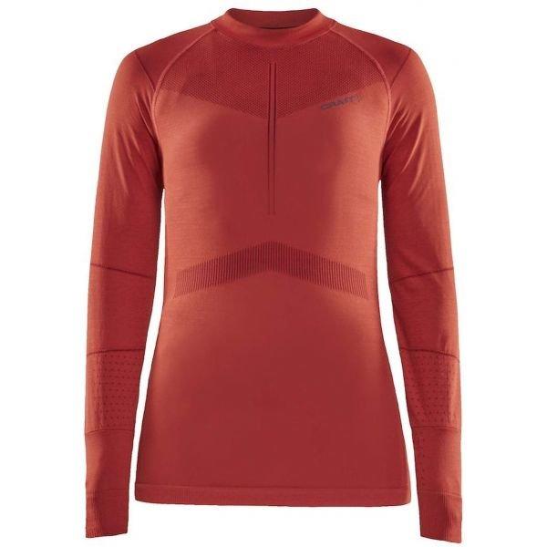 Oranžové dámské funkční tričko s dlouhým rukávem Craft