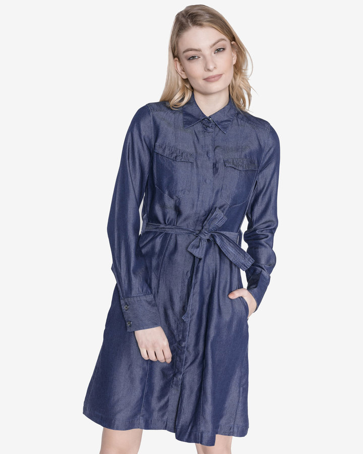 Modré dámské šaty G-Star RAW