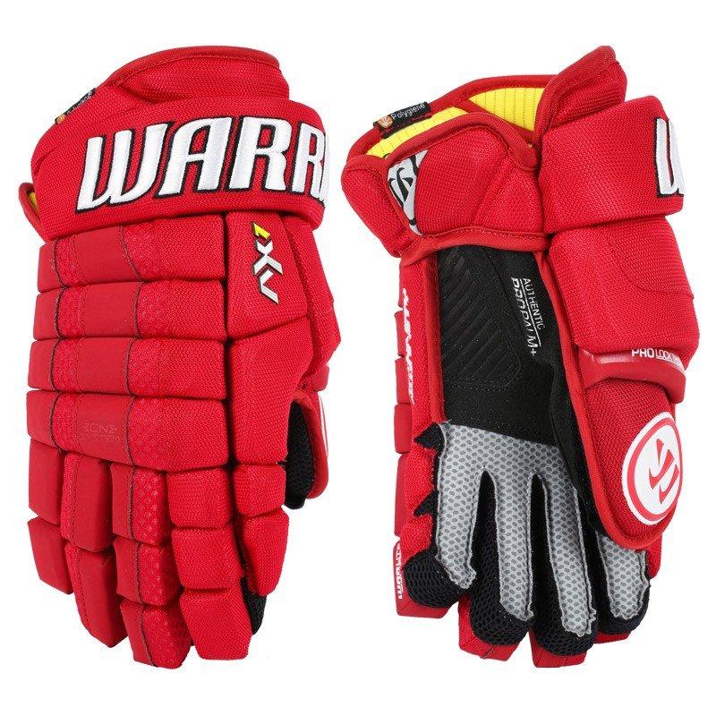 "Hokejové rukavice - senior AX1, Warrior - velikost 15"""