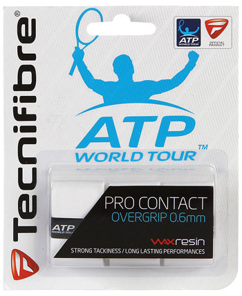 Bílá tenisová omotávka ATP Pro Contact, Tecnifibre - 3 ks