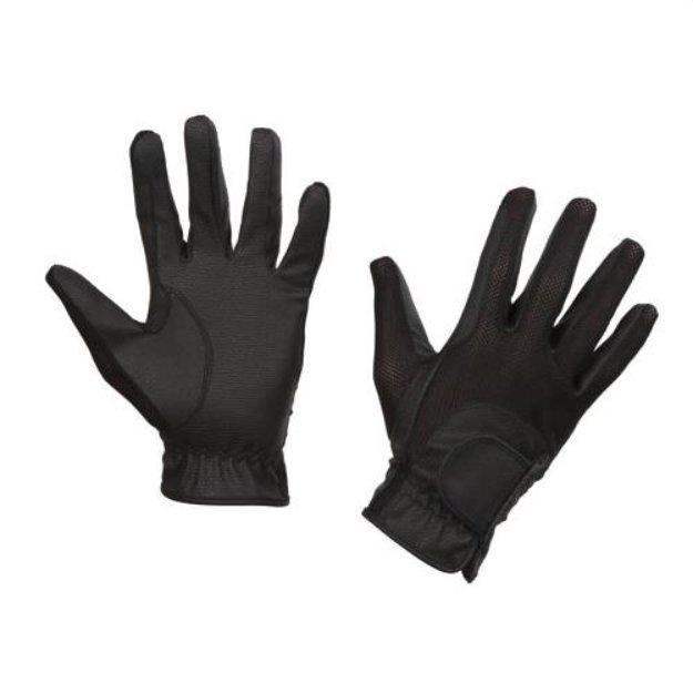 Černé unisex jezdecké rukavice SummerTech, Covalliero - velikost M