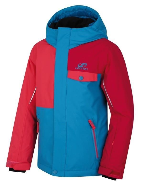 Červeno-modrá dětská lyžařská bunda Hannah - velikost 140