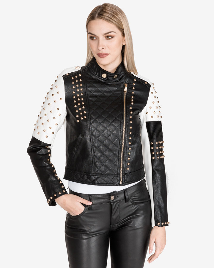 Bílo-černá dámská bunda Twinset - velikost S