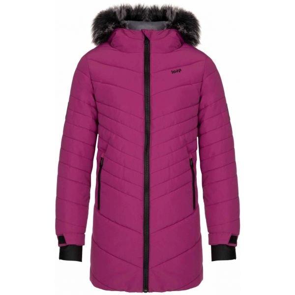 Fialový dívčí kabát Loap