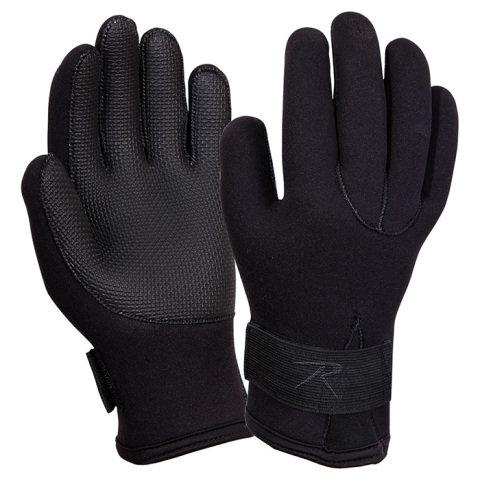 Černé neoprenové rukavice COLD WEATHER, ROTHCO