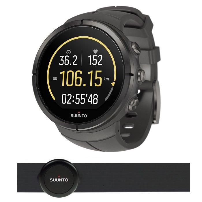 Černé digitální sportovní chytré hodinky Spartan Ultra Titanium Stealth HR, Spartan