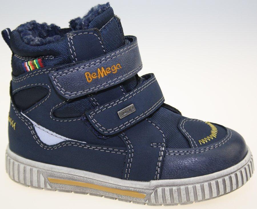 Modré chlapecké zimní boty V+J - velikost 23 EU
