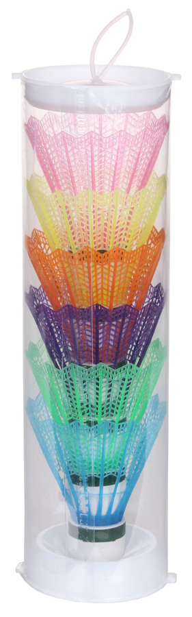 Různobarevný plastový badmintonový míček VicFun - 6 ks
