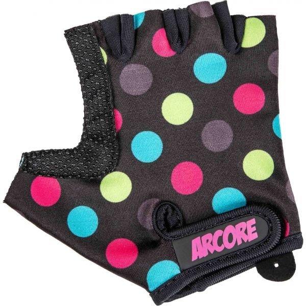 Různobarevné dětské cyklistické rukavice Arcore