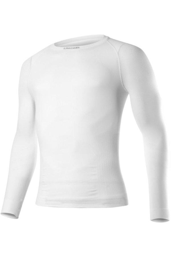 Bílé pánské termo tričko s dlouhým rukávem Lasting - velikost XXL-3XL