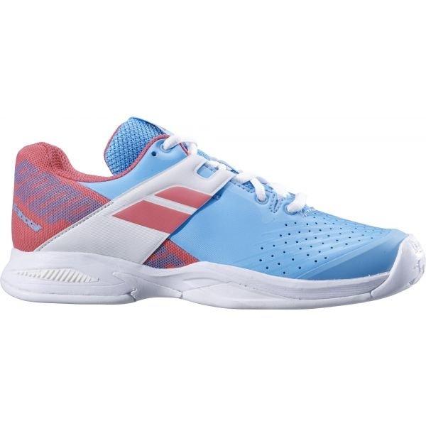 Červeno-modrá dětská tenisová obuv Babolat
