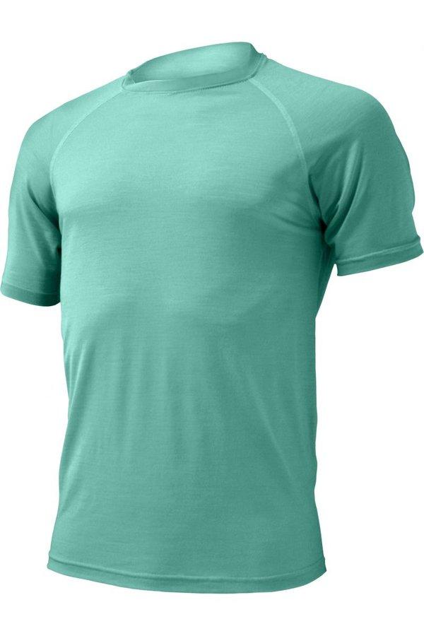 Tyrkysové pánské tričko s krátkým rukávem Lasting