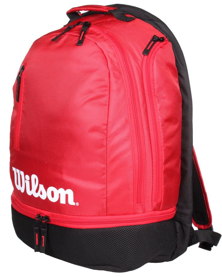 Černo-červený tenisový batoh Wilson