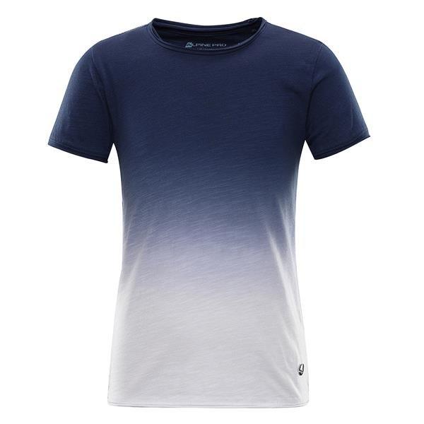 Modré turistické tričko s krátkým rukávem Alpine Pro - velikost 116-122