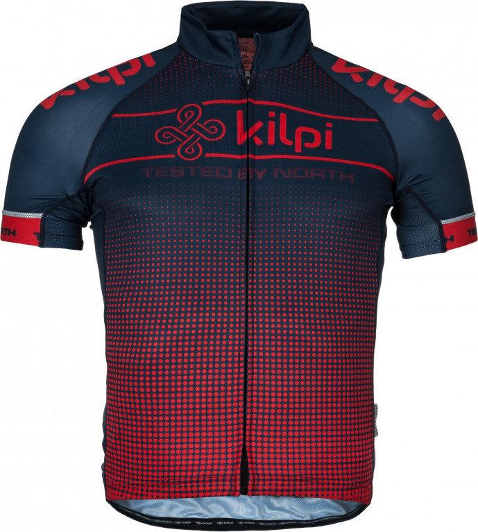 Červený pánský cyklistický dres Kilpi - velikost S