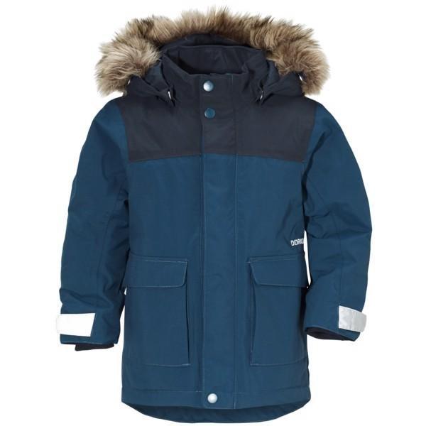 Modrá dětská zimní bunda s kapucí Didriksons1913 - velikost 80