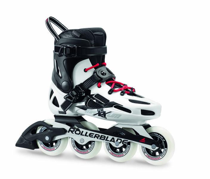 Bílé fitness kolečkové brusle Rollerblade - velikost 45 EU