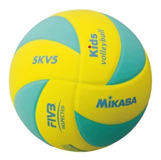 Volejbalový míč - Mikasa SKV5 barva: zelená;velikost míče: č. 5