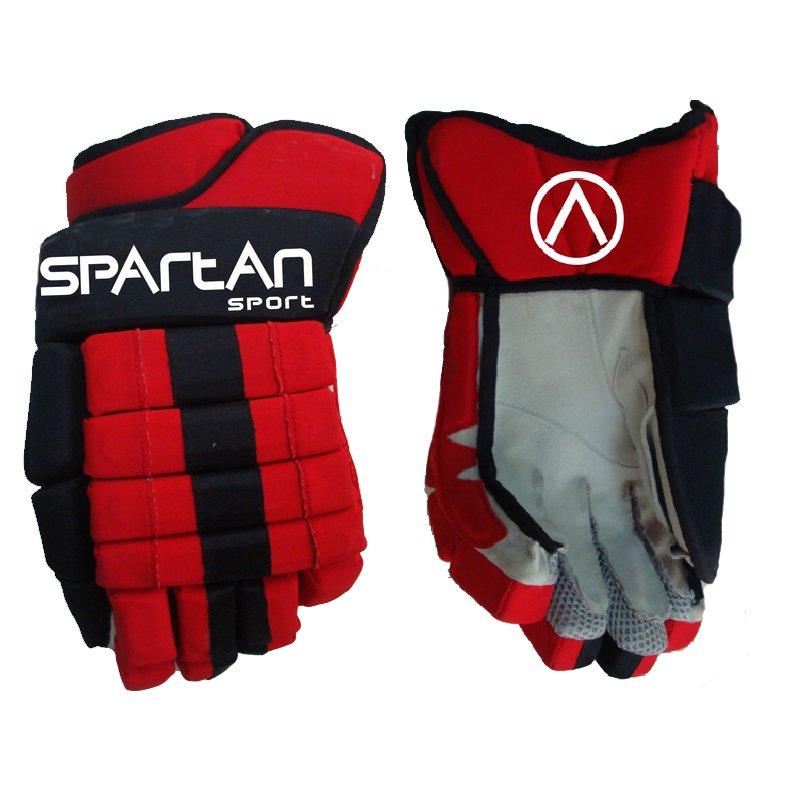 Černo-červené hokejové rukavice SPARTAN SPORT