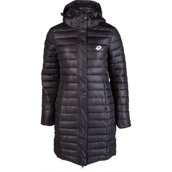 Černý prošívaný dámský kabát Lotto - velikost XS