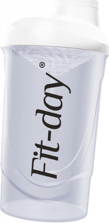 Bílý shaker Fit-day - objem 600 ml