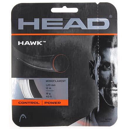Tenisový výplet - Hawk tenisový výplet 12 m barva: bílá;průměr: 1,25