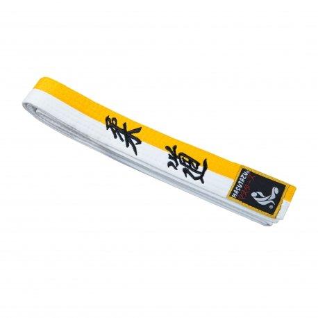 Bílo-žlutý judo pásek MASUTAZU