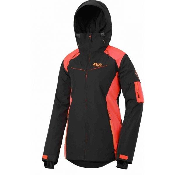 Černo-oranžová dámská bunda Picture