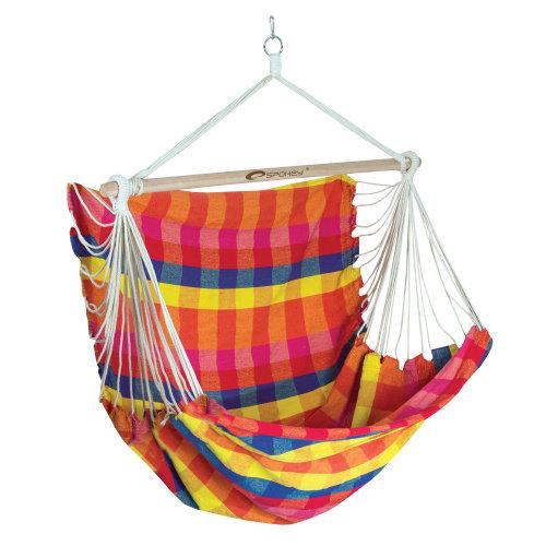 Různobarevné závěsné houpací křeslo BENCH DELUXE, Spokey