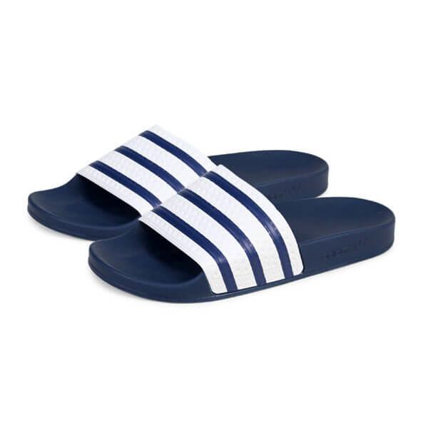 Bílo-modré pánské pantofle Adidas