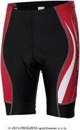 Černo-červené pánské cyklistické kraťasy s vložkou Progress - velikost S
