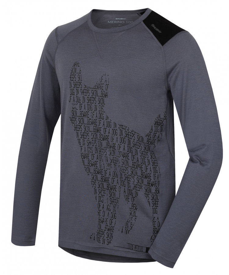 Šedé pánské termo tričko s dlouhým rukávem Husky