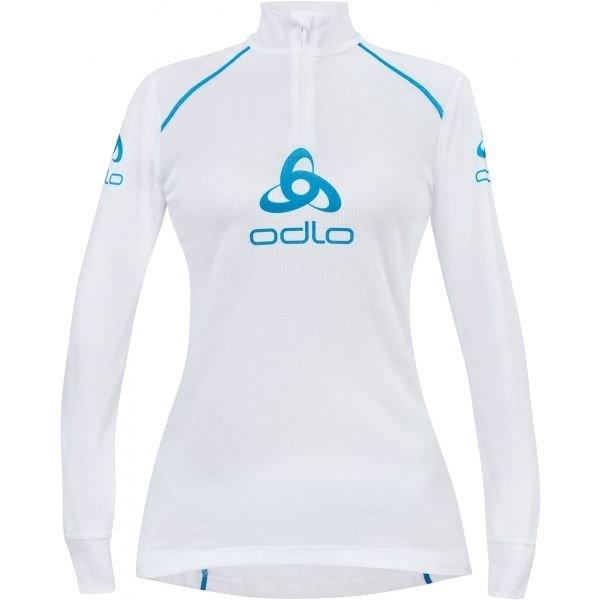 Bílé dámské funkční tričko s dlouhým rukávem Odlo - velikost L